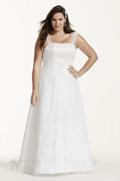 Wedding Dress For Older Plus Size Bride Plus Size A-line Wedding Dress