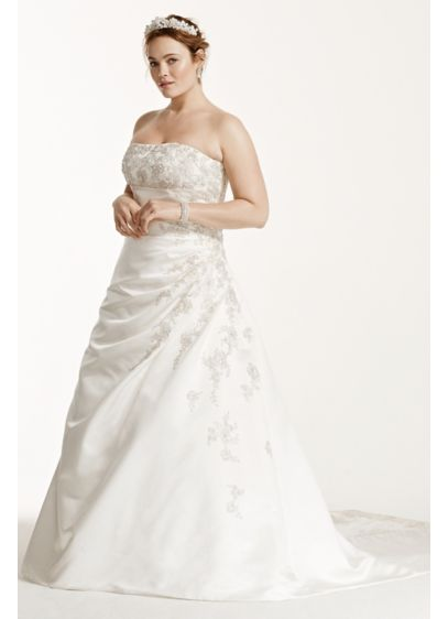 long a line formal wedding dress davids bridal collection