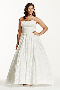 Lace Plus Size Wedding Dress with Pockets Detail 9WG3512
