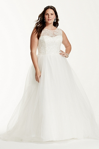 Cap Sleeve Tulle Ball Gown with Illusion Neckline 9WG3672