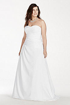 A-Line Plus Size Wedding Dress with Dropped Waist 9WG3743