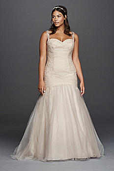 Plus Size Tulle Trumpet Wedding Dress 9WG3792