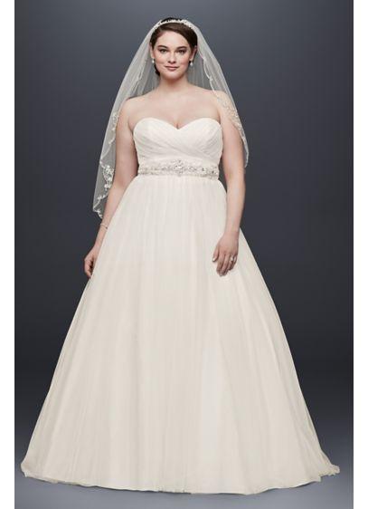 Long Ballgown Simple Wedding Dress David S Bridal Collection