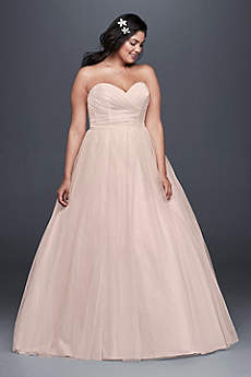Long Ballgown Simple Wedding Dress -