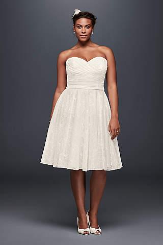 Short Plus Size Wedding Dresses - Davids Bridal