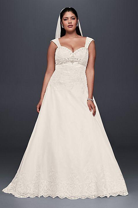 Plus Size Wedding Dress with Removable Straps   David\'s Bridal