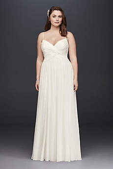 Long A-Line Beach Wedding Dress - David's Bridal