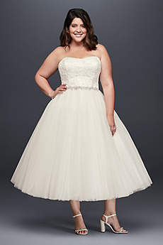 Short Ballgown Strapless Dress - David's Bridal Collection