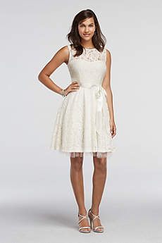 Short A-Line Tank Guest of Wedding Dress - David's Bridal