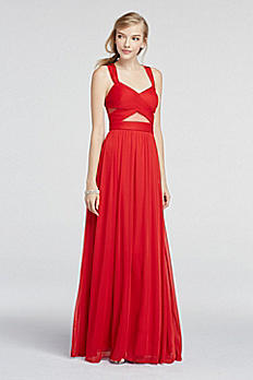 Illusion Cut Out Sleeveless Mesh Prom Dress A14947D