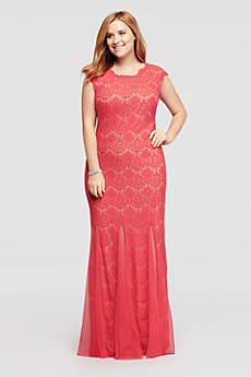 Long Mermaid/ Trumpet Cap Sleeves Formal Dresses Dress - Betsy and Adam