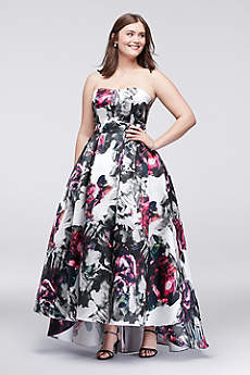 Long Ballgown Strapless Prom Dress - Betsy and Adam
