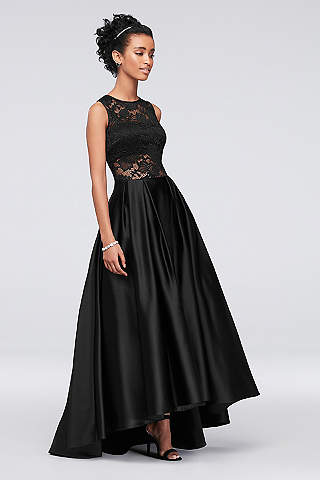 Black wedding dresses gowns plus petite davids bridal long ballgown formal wedding dress betsy and adam junglespirit Images