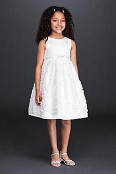 Flower Girl Dress with 3D Flowers 0067
