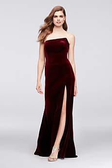 Long Sheath Strapless Formal Dresses Dress - Betsy and Adam