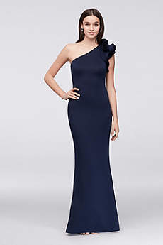 Long Mermaid/ Trumpet One Shoulder Formal Dresses Dress - Betsy and Adam