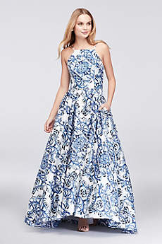 Long Ballgown Halter Prom Dress - Betsy and Adam