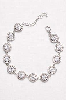 Solitaire Halo Cubic Zirconia Bracelet