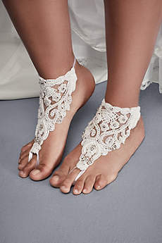 Ivory Bracelets (Beaded Lace Foot Jewelry)