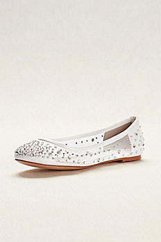 Ballet Flat with Scattered Crystal Accesnts ABABA31