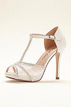 Blossom Lace Platform T-strap High Heel Sandal ABARBARA21
