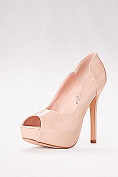 Carina Nude Patent Peep Toe Heel ACARINA58