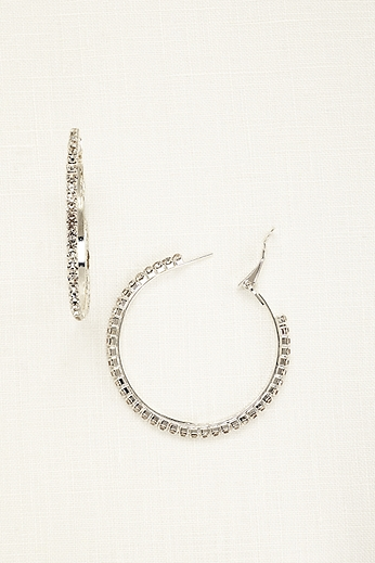 Crystal Hoop Earrings ACE335