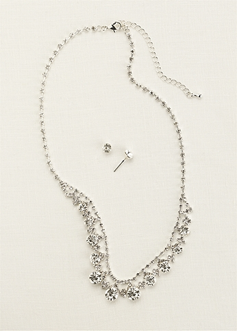 Classic Crystal Necklace and Earring Set ACS770