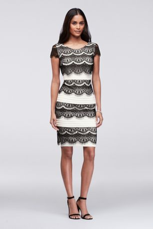 Sangria Ivory Short Lace Dress