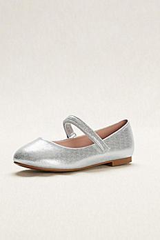 Flower Girl Metallic Mary Jane Ballet Flats AHARPER5