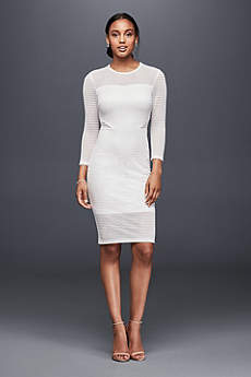 Short Sheath 3/4 Sleeves Dress - Ali and Jay