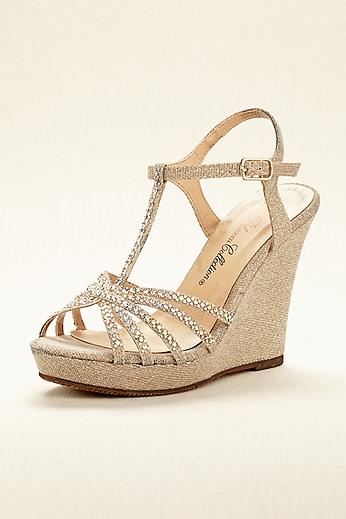 High Heel T-Strap Wedge Sandal ALINA11