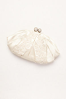 Embroidered Lace and Satin Bridal Pouch by Menbur AMERICA