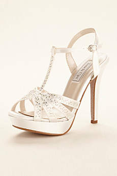 Touch Ups White Sandals (Dyeable Strappy Platform Sandal by Touch Ups)