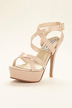 Touch Ups Beige Sandals (Andrea Strappy Platform Sandal by Touch Ups)