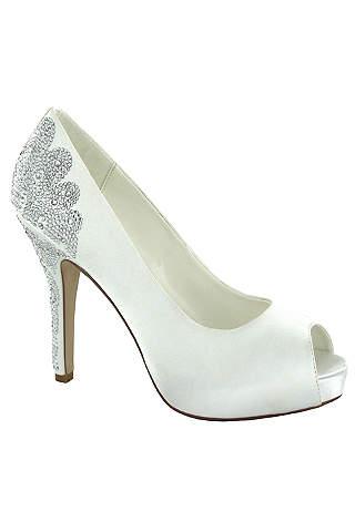 Ivory Wedding & Bridal Shoes: Flats & Heels | David's Bridal