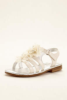 Touch of Nina Ivory Flowergirl Shoes (Touch of Nina Chiffon Flower Girl Gladiator Sandal)