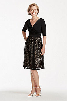 Short Sequin Lace Dress with V Neckline ASABX1ACR