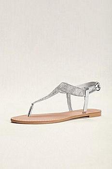 Geometric T-Strap Crystal Sandals ATHENA939A