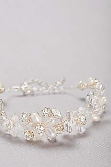 Botanical Crystal and Pearl Bracelet