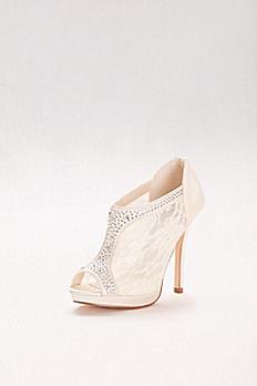 High Heel Lace Shootie with Crystals AYAEL9