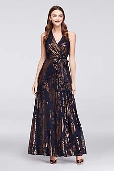 Long A-Line Halter Formal Dresses Dress - Chetta B