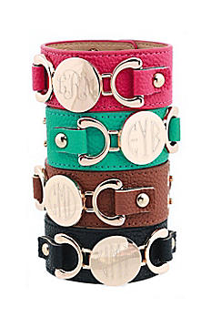 Personalized Leather Cuff  Bracelet B7000