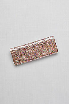 Fallon Allover Glitter Envelope Clutch B736