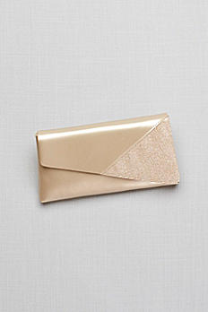 Morgan Metallic Foldover Clutch and Glitter Detail B767