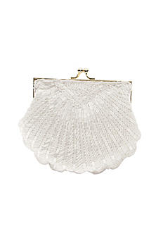 Beaded Shell Clutch with Chain B847