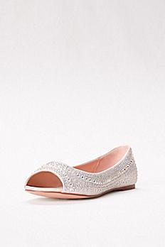 Embellished Peep Toe Flats BABA-28