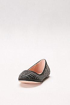 Crystal-Embellished Ballet Flats BABA-51