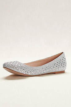 Blossom Grey Ballet Flats (Crystal Embellished Ballet Flat)