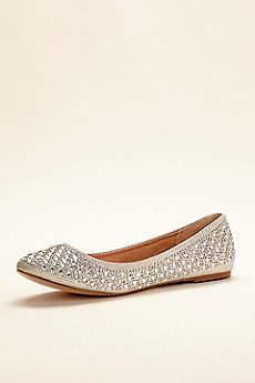 Blossom Beige Ballet Flats (Crystal Embellished Ballet Flat)